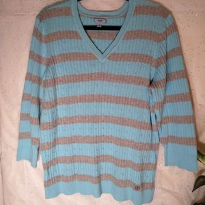 IZOD WOMEN PULLOVER V-NECK SWEATER SZ. 1X